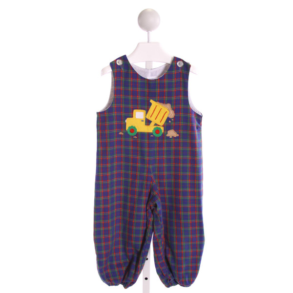 KELLY'S KIDS  MULTI-COLOR  PLAID EMBROIDERED LONGALL/ROMPER