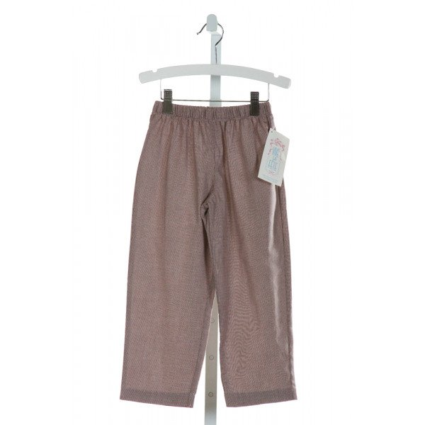VIVE LA FETE  BROWN  MICROCHECK  PANTS