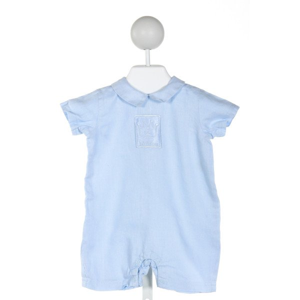 d92628778 BABY LUXURIES BLUE LINEN JOHN JOHN/ SHORTALL