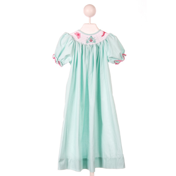 MIMI'S CLOSET MINT SMOCKED PRINCESS DRESS *SLIGHT IMPERFECTION (VERY FAINT SPOT ON FRONT, VERY HARD TO SEE)