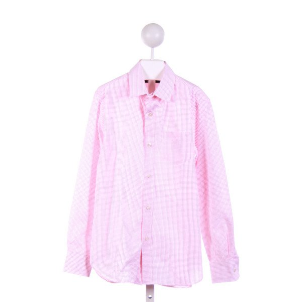 CREWCUTS FACTORY  PINK  WINDOWPANE  DRESS SHIRT