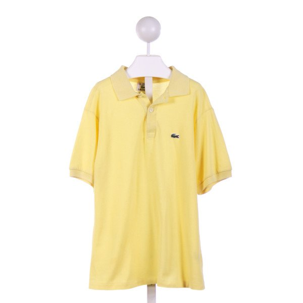 LACOSTE  YELLOW    KNIT SS SHIRT