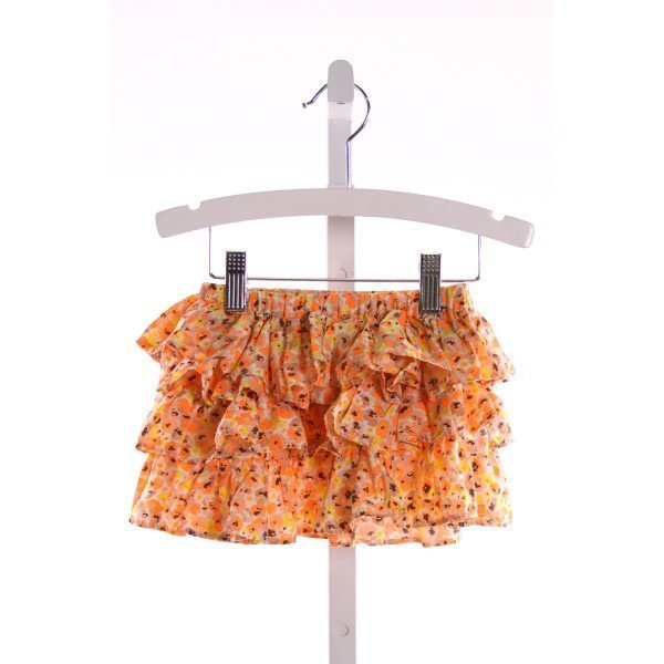 CREWCUTS  MULTI-COLOR SILK  PRINTED DESIGN SKIRT WITH RUFFLE