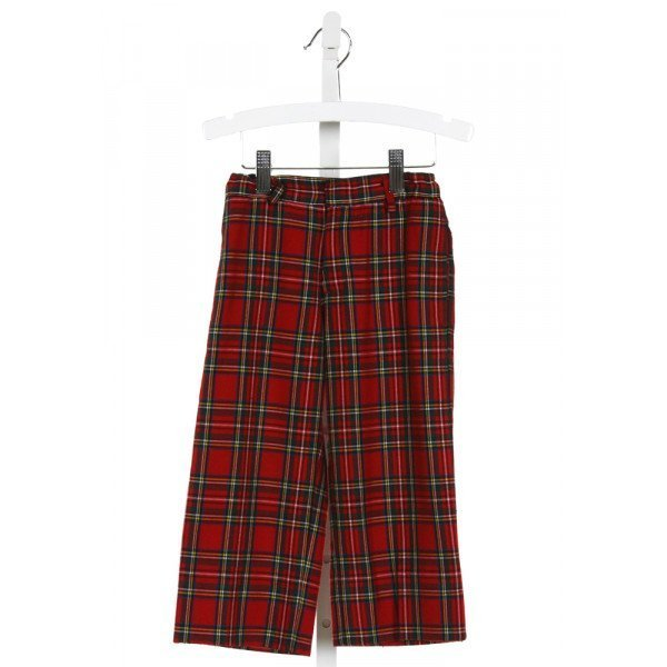 FLORENCE EISEMAN  RED  PLAID  PANTS