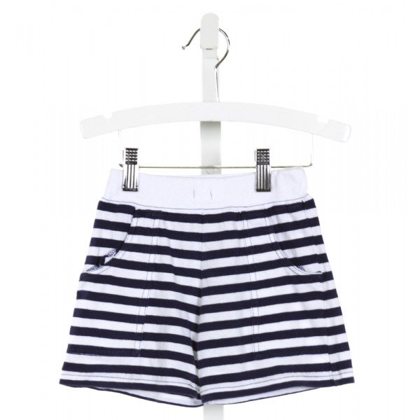 LUIGI  NAVY  STRIPED  SHORTS