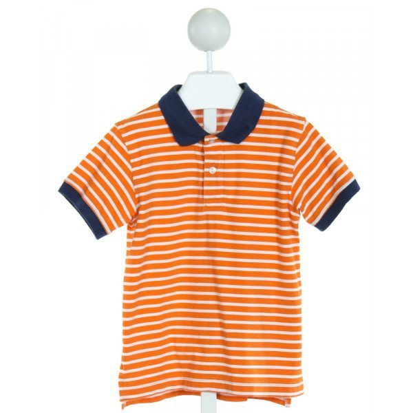 KELLY'S KIDS  ORANGE  STRIPED  KNIT SS SHIRT