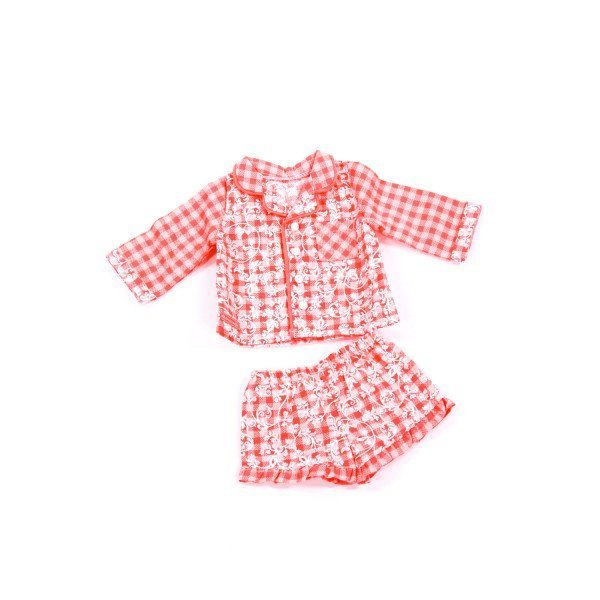AMERICAN GIRL  ORANGE  GINGHAM PRINTED DESIGN PAJAMA SET