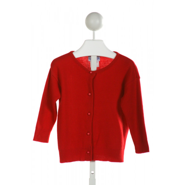 KELLY'S KIDS  RED    CARDIGAN