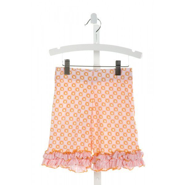 SHRIMP & GRITS  LT PINK  FLORAL  SHORTS WITH RUFFLE