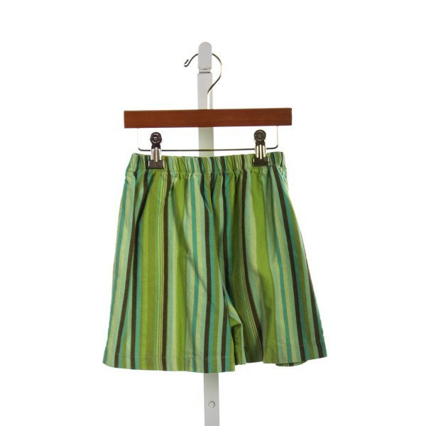 HOLLYWOOD BABY GREEN STRIPED SHORTS