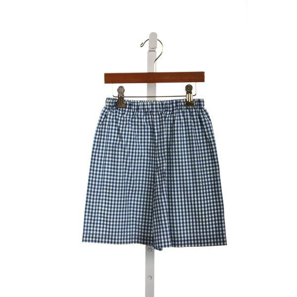 JIGJOG KIDS BLUE GINGHAM SHORTS