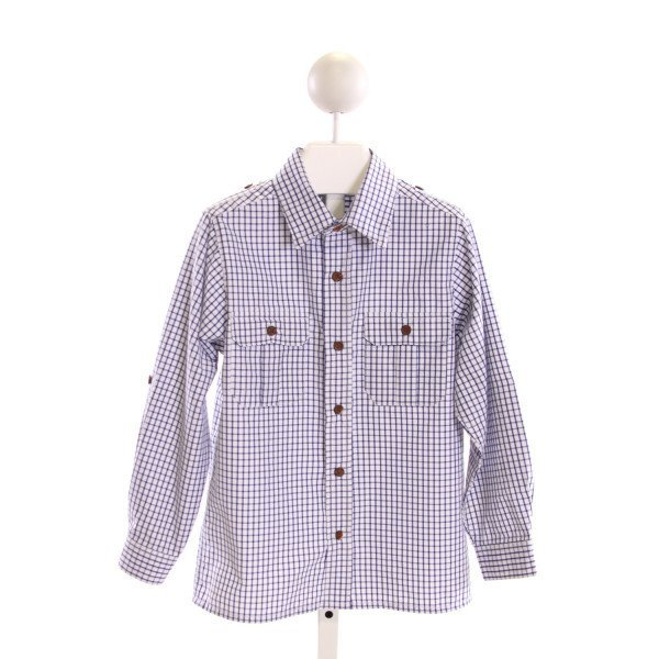 BUSY BEES  BLUE  GINGHAM  CLOTH LS SHIRT