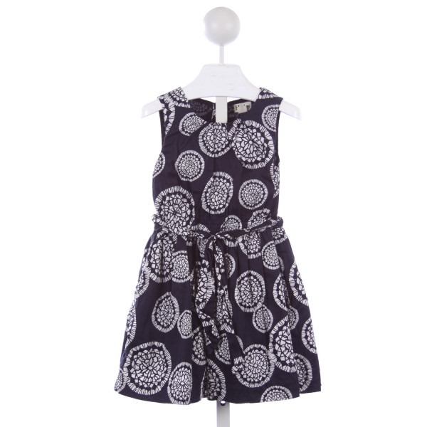 HATLEY BLUE AND WHITE PATTERN DRESS