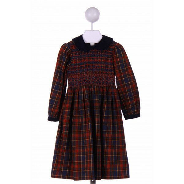 SOPHIE DESS  NAVY  PLAID  CASUAL DRESS