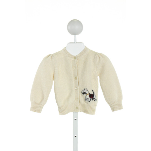 RALPH LAUREN  IVORY   EMBROIDERED SWEATER