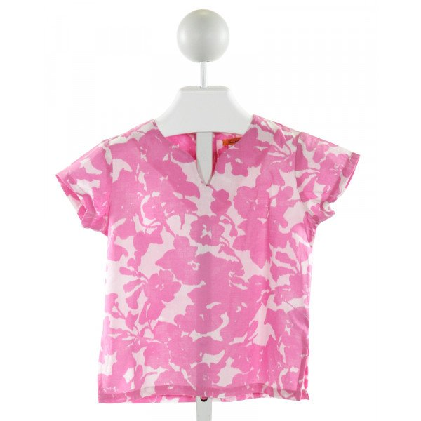 KULE BY NIKKI KULE  HOT PINK  FLORAL  CLOTH SS SHIRT