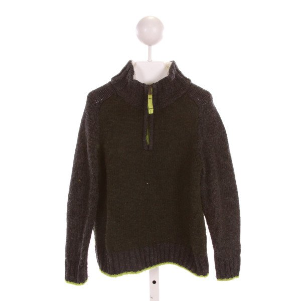 MINI BODEN  FOREST GREEN WOOL   QUARTER ZIP PULLOVER