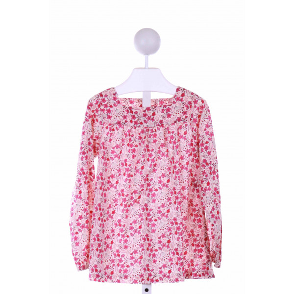 KATE & LIBBY  PINK  FLORAL  CLOTH LS SHIRT