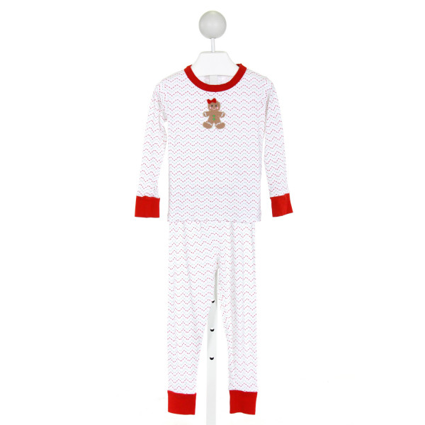 MAGNOLIA BABY  WHITE  PRINT EMBROIDERED LOUNGEWEAR