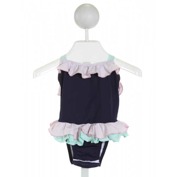 THE BEAUFORT BONNET COMPANY  NAVY    1-PIECE SWIMSUIT WITH RUFFLE