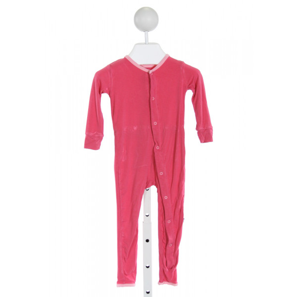 KICKEE PANTS  HOT PINK    KNIT ROMPER