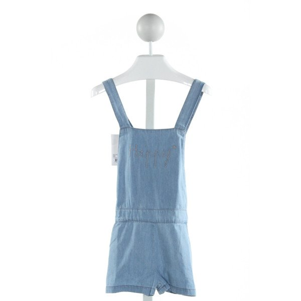 EMILE ET IDA  CHAMBRAY   EMBROIDERED ROMPER