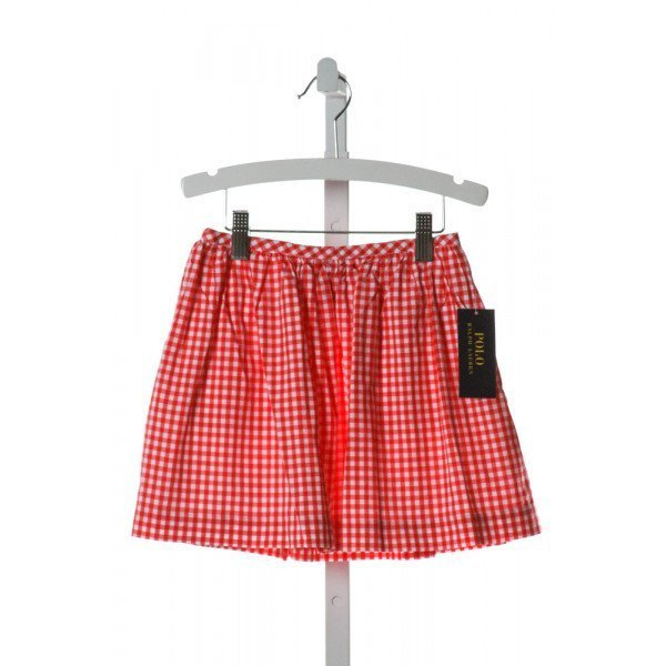 POLO BY RALPH LAUREN  RED  GINGHAM  SKIRT
