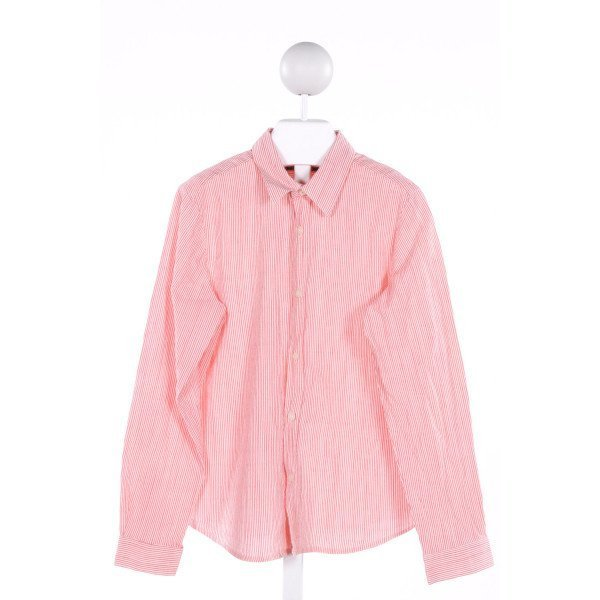 BONPOINT  RED  STRIPED  CLOTH LS SHIRT