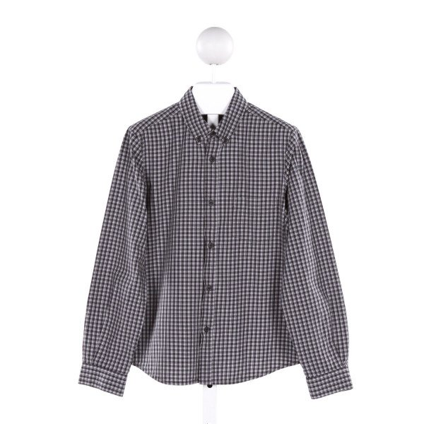 BONPOINT  BLACK  PLAID  CLOTH LS SHIRT