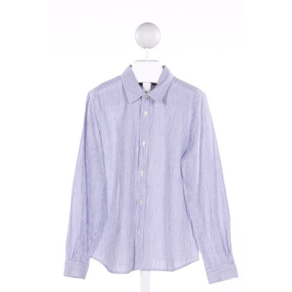 BONPOINT  BLUE  STRIPED  CLOTH LS SHIRT