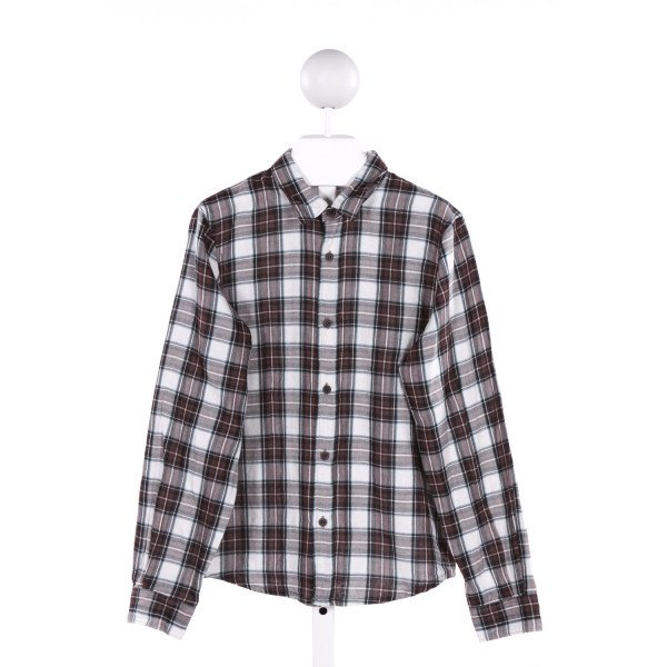 BONPOINT  MULTI-COLOR  PLAID  CLOTH LS SHIRT