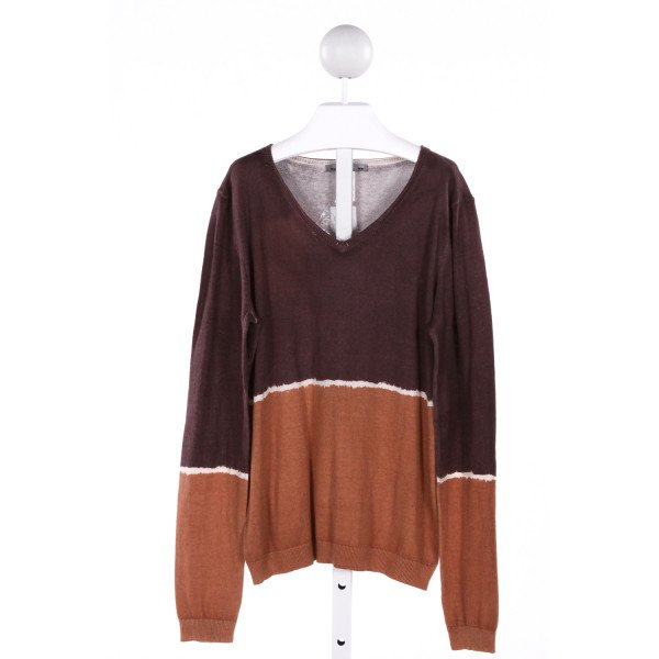 BONPOINT  BROWN COTTON   SWEATER