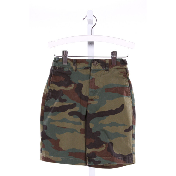 CREWCUTS  GREEN COTTON PRINT  SHORTS