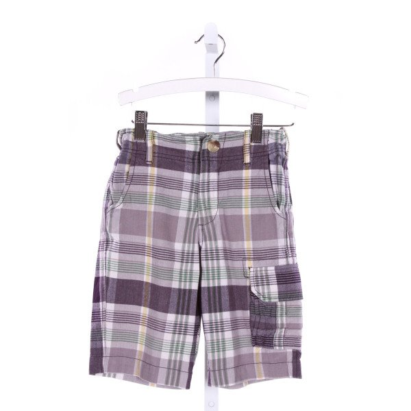 PEEK  MULTI-COLOR COTTON PLAID  SHORTS