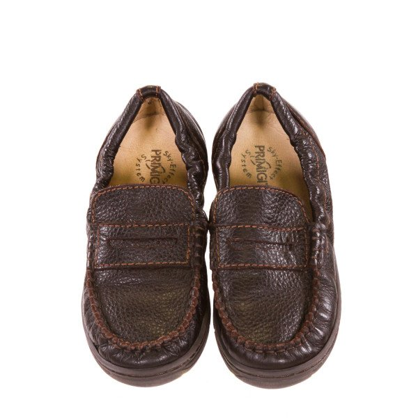 PRIMIGI BROWN LEATHER LOAFERS TODDLER SIZE 13 *EUC