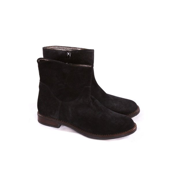 BONPOINT BLACK SUEDE SHORT BOOTS CHILD SIZE 2.5 *EUC *EU SIZE 34=US 2.5
