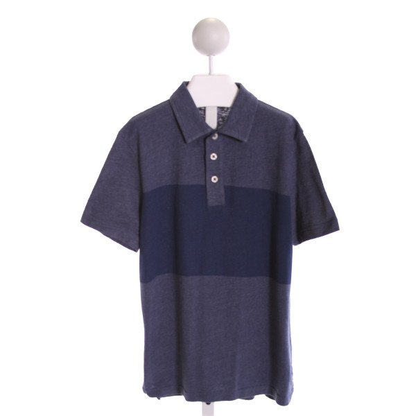 TUCKER & TATE  NAVY  STRIPED  KNIT SS SHIRT