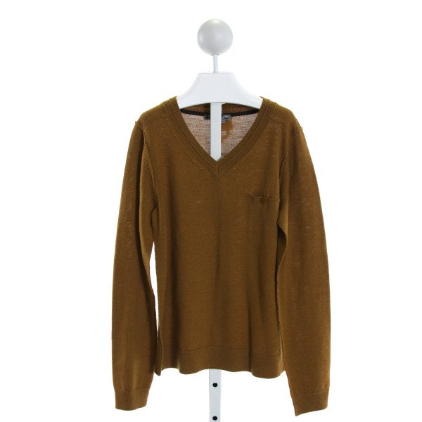 BONPOINT  BROWN    KNIT LS SHIRT