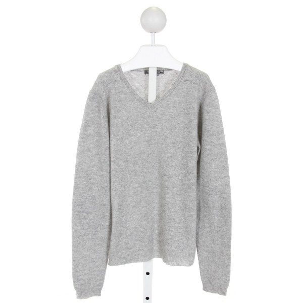 BONPOINT  GRAY CASHMERE   KNIT LS SHIRT