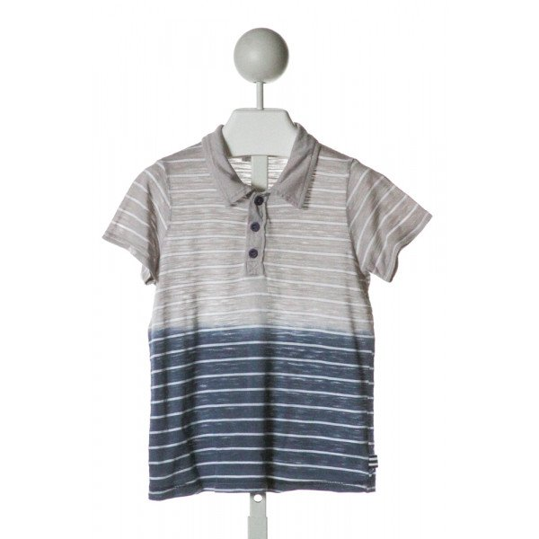 SPLENDID  GRAY  STRIPED  KNIT SS SHIRT