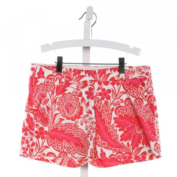 CREWCUTS FACTORY  HOT PINK  FLORAL  SHORTS