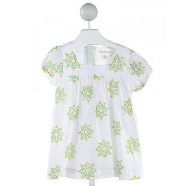 MASALA KIDS  WHITE  FLORAL  CLOTH SS SHIRT