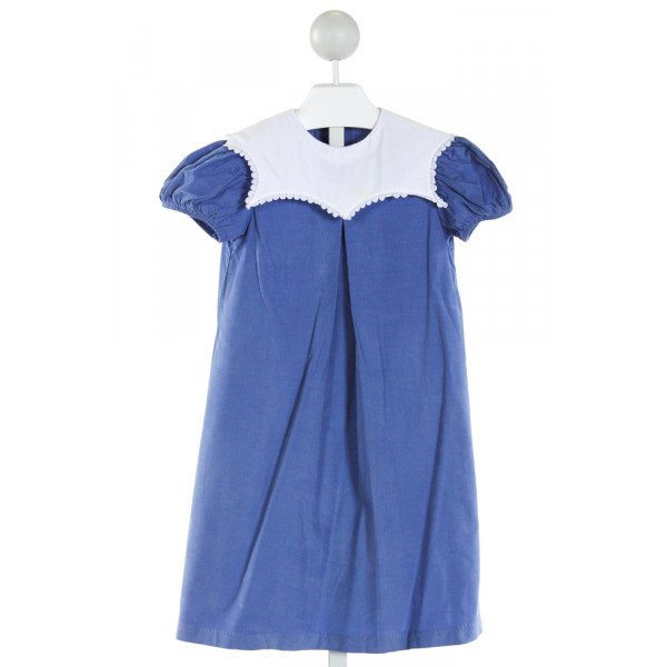 DAISIES & DOODLEBUGS  BLUE CORDUROY  EMBROIDERED DRESS