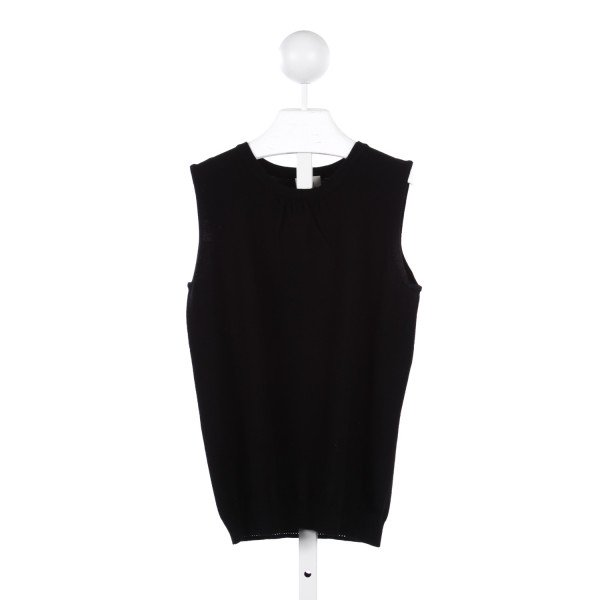 MILLY MINIS BLACK SLEEVELESS TOP