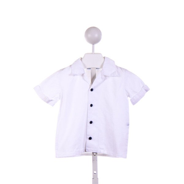 EMILY LACEY  WHITE CORDUROY   CLOTH SS SHIRT