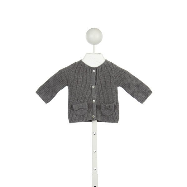 JACADI GRAY SWEATER WITH BOW POCKETS