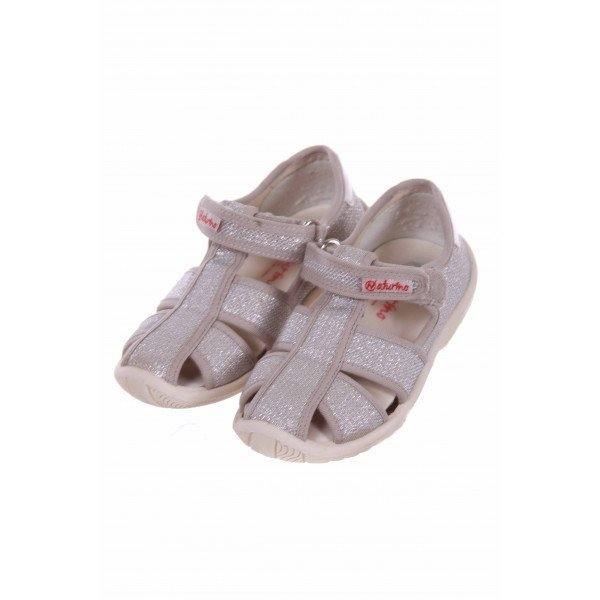 NATURINO SILVER SANDALS TODDLER SIZE 9.5 *VGUC