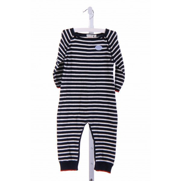 JOJO MAMAN BEBE  NAVY  STRIPED  ROMPER