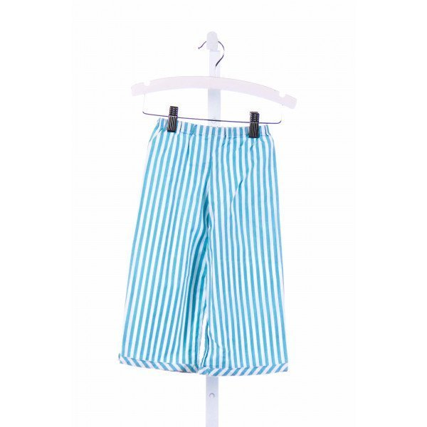 WHITNEY O'LONE  AQUA  STRIPED  PANTS