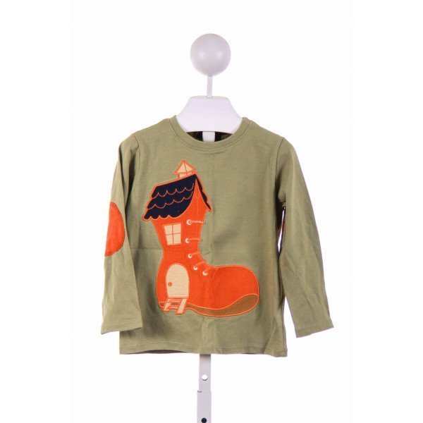 THE DRAGON AND THE RABBIT  GREEN    KNIT LS SHIRT